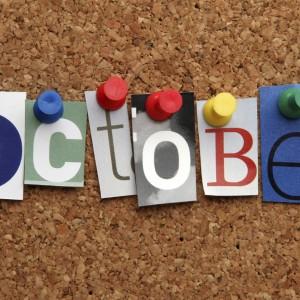October pinned on noticeboard